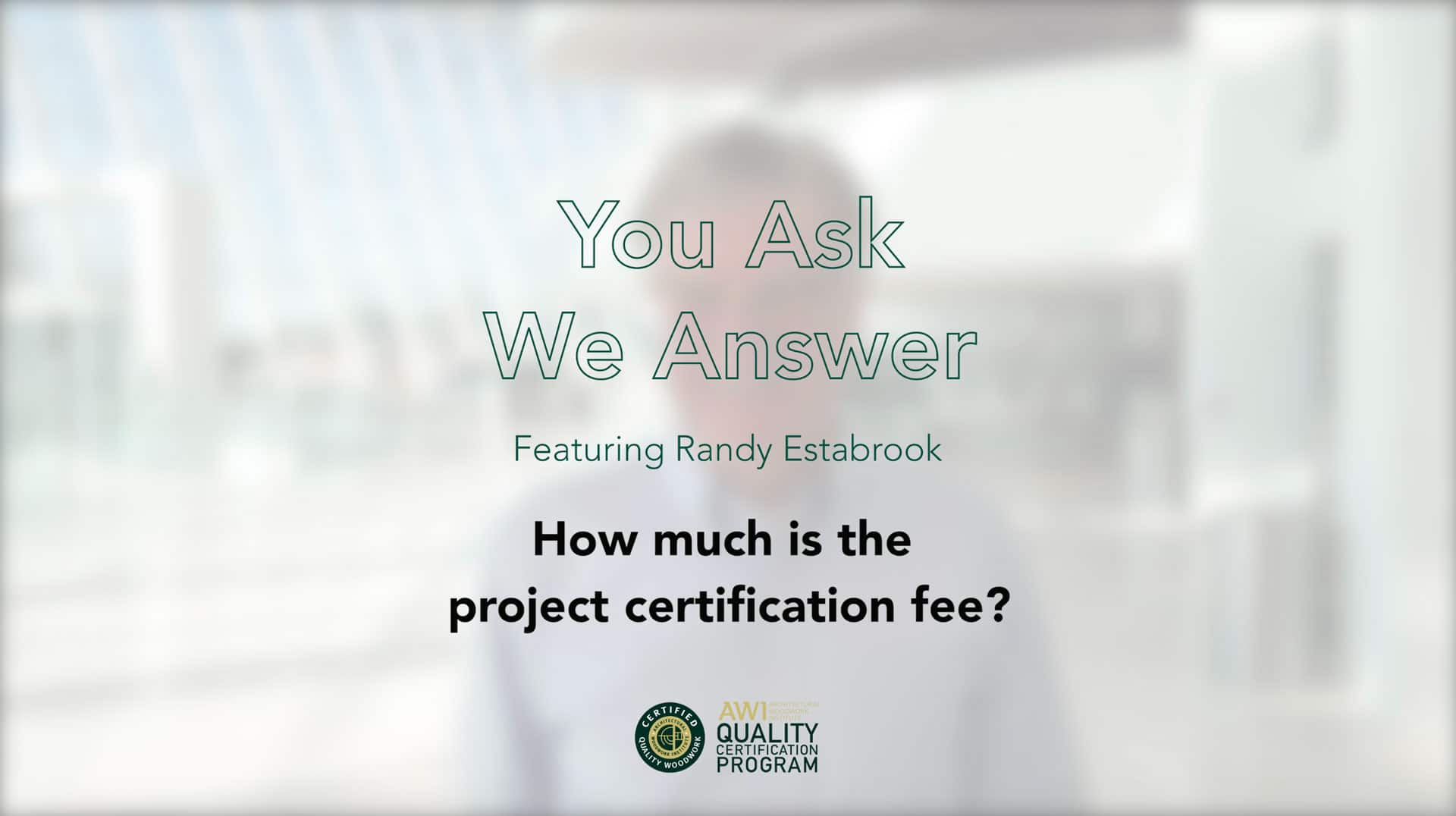 How much is the project registration AWI QCP
