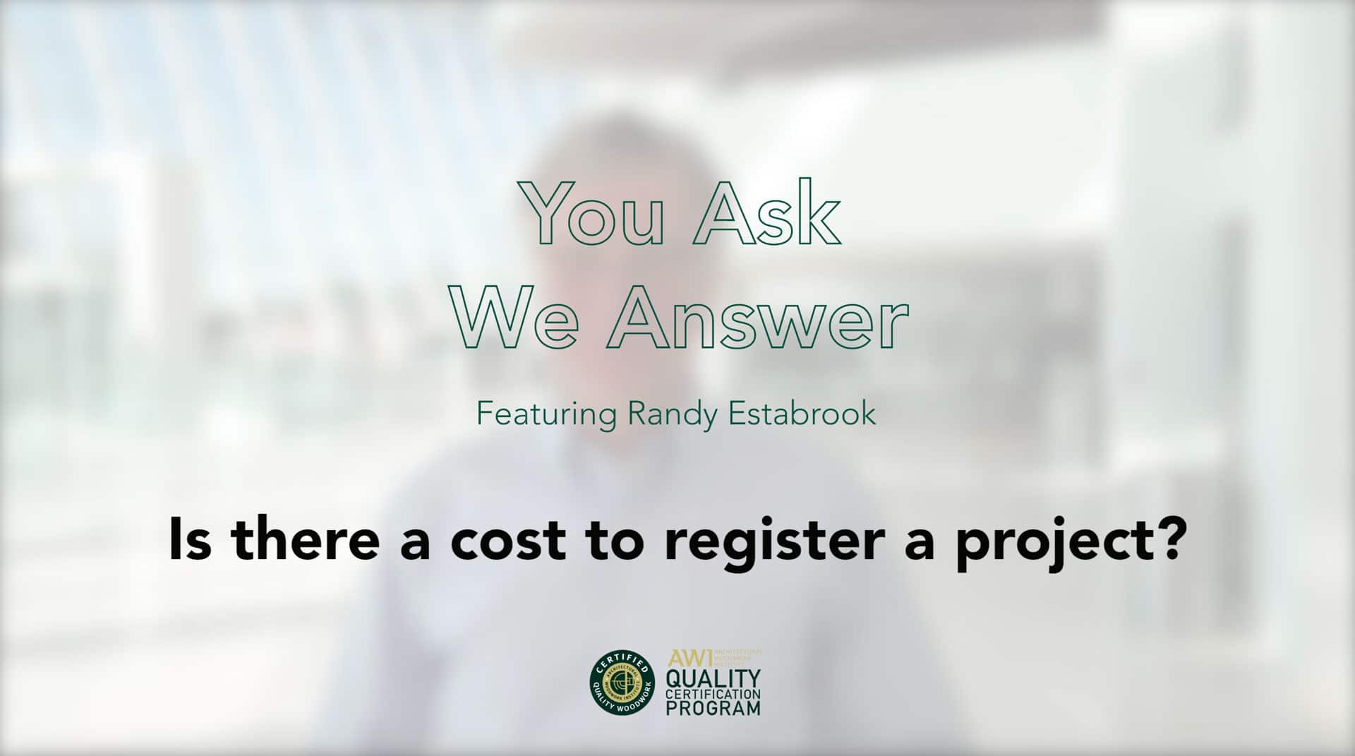 Is there a cost to register a project AWI QCP